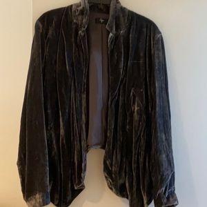 Aqua velvet jacket small